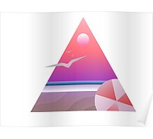 Triangles for days • Beach Poster