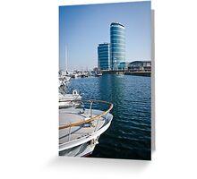 Chatham Maritime Marina Greeting Card