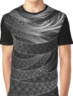Shining Silver Corded Fractal Bangles Graphic T-Shirt