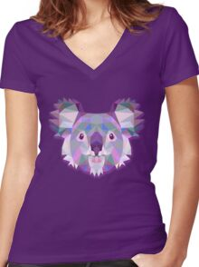 Koala Animals Women's Fitted V-Neck T-Shirt
