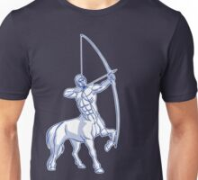 White and Blue Centaur Aiming High T-Shirt by Cheerful Madness!! Unisex T-Shirt
