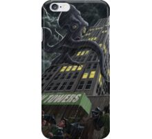 Monster Octopus attacking building in storm iPhone Case/Skin