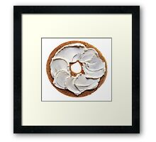 Bagel with Cream Cheese  Framed Print