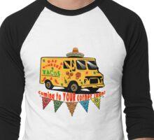 #BADHOMBRES Bad Hombres Taco Truck Men's Baseball ¾ T-Shirt
