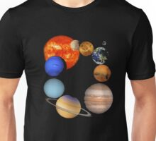 Planets of the Solar System and the Sun T-shirt Unisex T-Shirt