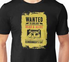 Schrodinger's Cat Wanted Dead & Alive Funny Physics Science Mens T-shirt Black Unisex T-Shirt