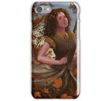 Spirit of Autumn Woman iPhone Case/Skin