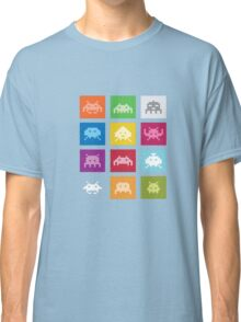 COOL SPACE-INVADERS T-SHIRT 8-BIT Geek Gamer Tee Nerd Classic T-Shirt