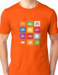 COOL SPACE-INVADERS T-SHIRT 8-BIT Geek Gamer Tee Nerd Unisex T-Shirt
