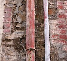 Red Rusted Piping by Stephen Mitchell