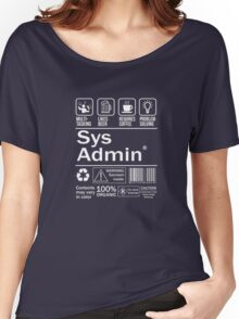 System administrator Funny T Shirt Unix Linux Beer Coffee Women's Relaxed Fit T-Shirt