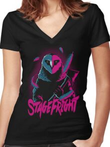 The Theatre of Death Women's Fitted V-Neck T-Shirt