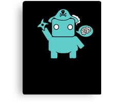 Ninja Pirate Robot Zombie: Cute Geek Mashup T-Shirt Canvas Print