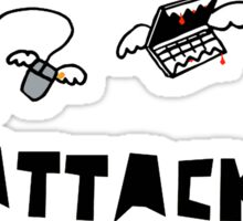 Attack of the Computers tee Sticker