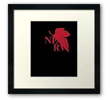 Neon Genesis Evangelion: NERV Logo Black T-Shirt Framed Print