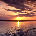 Sunset Abaco sound Bahamas by Jim Hellier