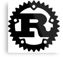 Rust Programming Language Logo Metal Print