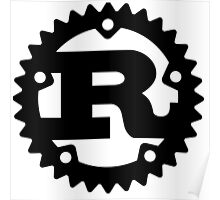 Rust Programming Language Logo Poster