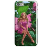 Pink pretty Fairy on leaf with pink Butterfly iPhone Case/Skin