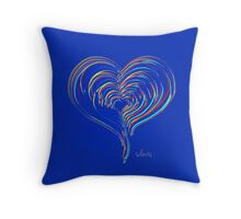 Heart Fractal Colorful 102316 Throw Pillow