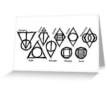 Skyrim Shadowmarks Greeting Card