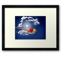 "(◡‿◡✿) (◕‿◕✿) Strawberry Delight ""Life Is Sweet"" (◡‿◡✿) (◕‿◕✿) Framed Print"