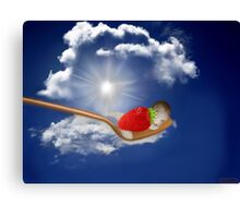 "(◡‿◡✿) (◕‿◕✿) Strawberry Delight ""Life Is Sweet"" (◡‿◡✿) (◕‿◕✿) Canvas Print"