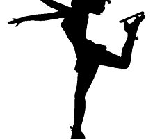 Figure Skate Silhouette by kwg2200