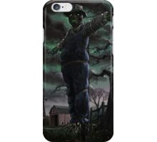 Scary Scarecrow in field iPhone Case/Skin