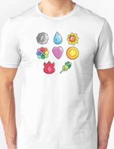 Pokemon Gen 1 Gym Badges T-Shirt