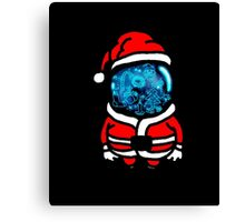 Christmas Space T-shirt Canvas Print