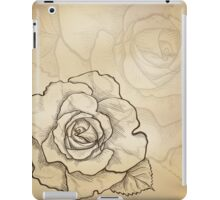 Sketch rose background iPad Case/Skin