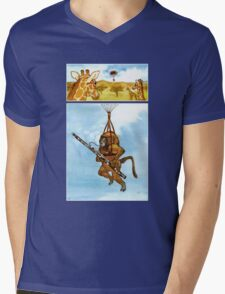 A Baboon Plays Bassoon From Balloons Mens V-Neck T-Shirt