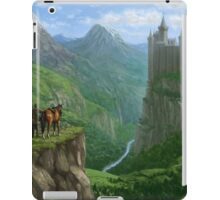 Traveller in landscape with distant Castle iPad Case/Skin
