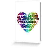 ABC heart Greeting Card