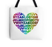 ABC heart Tote Bag