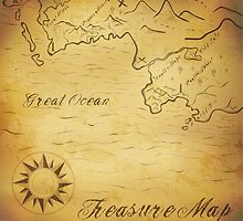 Old treasure map by Marta Jonina