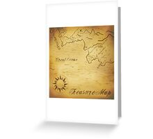 Old treasure map Greeting Card