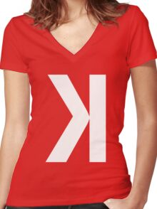 Strikeout Women's Fitted V-Neck T-Shirt