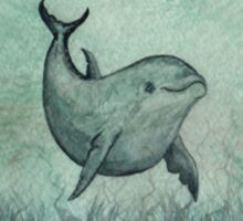 Notches the Watercolor Dolphin Sticker