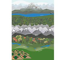 The Hobbit Journey Poster Photographic Print