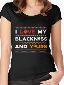 I love my blackness Hoodie t-shirt Women's Fitted Scoop T-Shirt