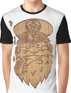 Captain Salty on Wood Graphic T-Shirt