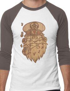 Captain Salty on Wood Men's Baseball ¾ T-Shirt
