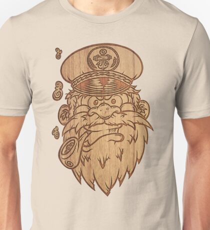 Captain Salty on Wood Unisex T-Shirt