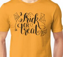 Hand Lettered Trick or Treat Unisex T-Shirt