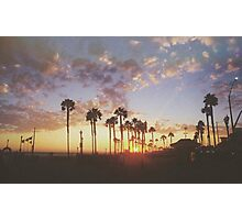 California Sunset Photographic Print
