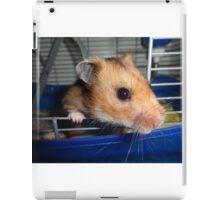 Blu Fondue, the beatnik hamster iPad Case/Skin