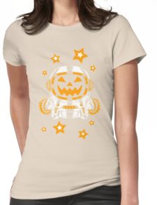 Space Halloween Womens Fitted T-Shirt