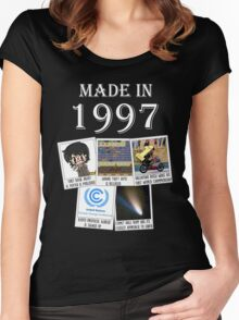 Made in 1997, main historical events Women's Fitted Scoop T-Shirt